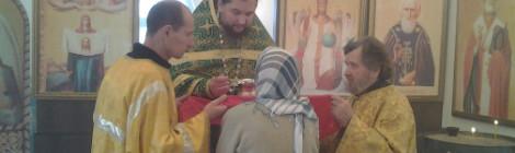 В новом храме прп. Сергия Радонежского в пос. Славянское начались богослужения