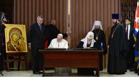 """Папа Франциск назвал встречу с Патриархом """"радостным"""" разговором двух братьев"""