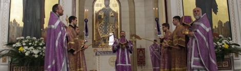 В Великий четверг епископ Серафим совершил Божественную литургию с Чином омовения ног
