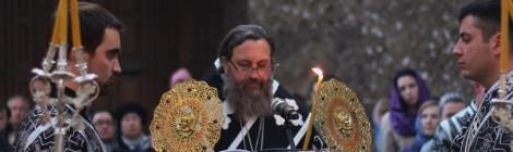 Епископ Серафим совершил утреню с чтением 12 Страстных Евангелий