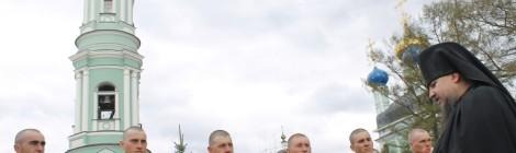 Парадный расчет морской пехоты г.Балтийска посетил Оптину Пустынь