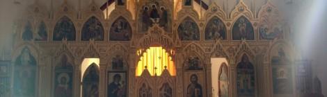 Канун праздника Успения Пресвятой Богородицы в храме вмч. Екатерины
