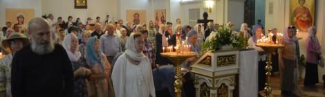 В Нижнем храме Кафедрального собора отметили престольный праздник
