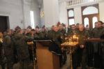 Бригада морской пехоты получила благословение перед отправкой в Подмосковье, на репетиции Парада Победы