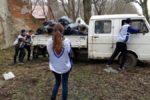 Воспитанники реабилитационного центра «Жемчужное» вместе с волонтерами провели субботник на территории кирхи Шаакен