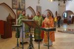 Архиепископ Серафим совершил Божественную Литургию в монастырском храме св. Екатерины