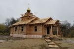 Освящение и установка креста и купола на строящемся храме св. мч. Наталии