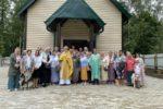 Первая литургия в храме прп. Сергия Радонежского в Светлогорске-1